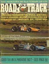 Road & Track 1968 Aug ferrari mercedes checker vw race