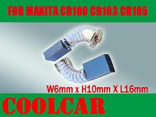 Carbon Brushes For Makita CB100 CB103 6X10X16mm 5600NB 9005B 4100NB 181030-1 OZ
