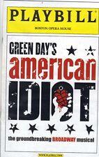 American Idiot playbill Green Day musical tour Boston 2012 Scott Campbell Hughes