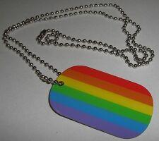 DOG TAG Regenbogen Rainbow Erkennungsmarke Lesben Gay Kette Fahne Flagge 30x50