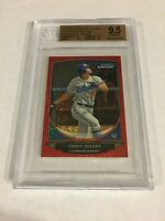 2013 BOWMAN CHROME MINI RED REFRACTOR ROOKIE COREY SEAGER RC /5 BGS 9.5 GEM