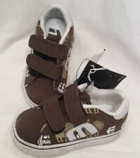 Etnies Calli-Vulc Brown Beige White Baby Skate Shoes UK Toddler Size 4.5T BNWOB