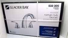 Glacier Bay Builders 2-Handle Deck-Mount Roman Tub Faucet in Chrome