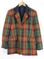 FS Damen Jacke, Blazer, mehrfarbig kariert, Größe 42, 100% Wolle