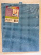"""3 Sheets Darice Neon Blue Plastic Canvas 7 Mesh 10.5"""" x 13.5"""" New in Pack of 3"""