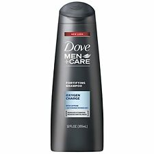 12 Oz Dove Men Plus Care Fine Hair Fortifying Shampoo Oxygen Charge W/ Caffeine