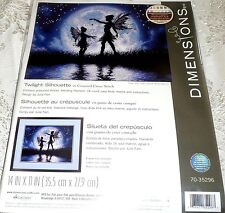 "Dimensions Counted Cross Stitch Kit TWILIGHT SILHOUETTE 14"" x 11"""