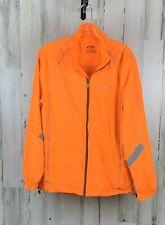Asics Men's Running Windbreaker Orange Full Zip Mesh Lined Size S NWOT