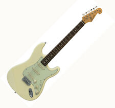 SX ELECTRIC GUITAR STRAT SHAPE STUNNING VINTAGE WHITE SOLID BODY - BARGAIN