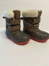 NEW Cat & Jack Little Boy Barkley Winter Boots Size 4 Toddler snow High Top
