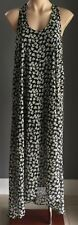 Pre-owned MOOLOOLA Floral Print Sleeveless Dip Hem Maxi Dress Size XS/S 6/8