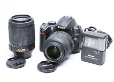 NIKON D5000 12.3MP DIGITAL DSLR KIT W/ 18-55MM, 55-200MM VR LENSES - 3700 CLICKS