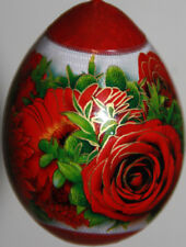 gourd pysanky Easter egg, mother's day gift  or Christmas ornament with roses