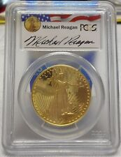1986-W $50 Gold Eagle, Reagan Legacy Series, PCGS PR69DCAM, Limited Series