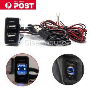 for Toyota Dual USB Socket Audio Charger Prado Hilux Land Cruiser 100 Series AU