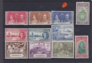Dominica KGVI Omnibus Issues Cat £6.05 Mounted Mint Collection
