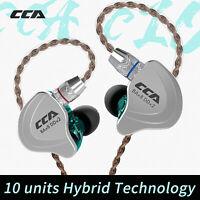 CCA C10 4BA+1DD Hybrid Headphone In Ear Headset Bass Earphone HIFI Sport Earbuds