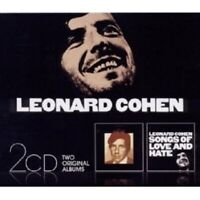 "LEONARD COHEN ""SONGS OF LEONARD COHEN & SONGS OF LOVE AND HATE"" 2 CD NEW"