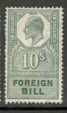 King Edward VII - 5s Green - Foreign Bill - Mint Hinged - Some Paper Stuck to