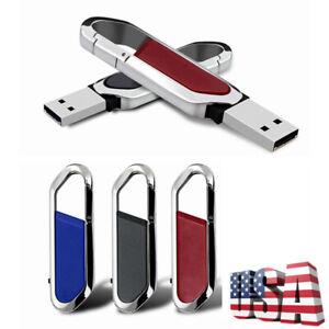2TB Swivel Metal USB 2.0 Key Chain Flash Drive Memory Stick Pen Thumb U Disk