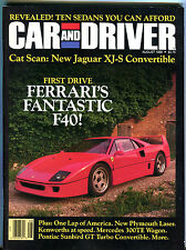 Car and Driver Magazine August 1988 Ferrari's Fantastic F40 EX 012216jhe