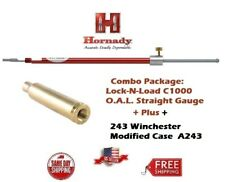 Hornady Lock-N-Load STRAIGHT OAL Gauge C1000 + .243 Win. Modified Case A243 NEW