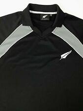 NEW ZEALAND Apparel Men's Polo/Golf Shirt Black/Gray Accents Size XL Logo EUC.