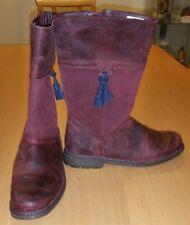 Timberland Amesbury Earthkeepers EK Tall Kids Boots Juniors Burgundy 8390R SZ 7