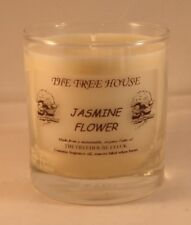 Organic Plant Wax Candle in a Glass Jar (Jasmine Flower)