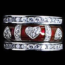 3-RING SET #02_CZ HEARTS_RED ENAMEL_SZ-10__925 STERLING SILVER-NF