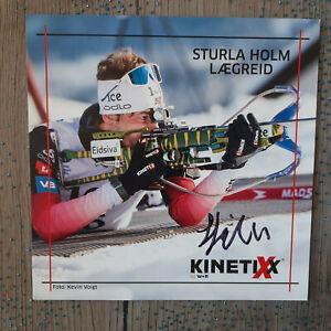 Sturla Holm Laegreid Biathlon Autogramme Autogrammkarte signiert