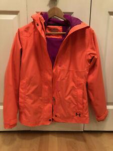 Under Armour Coldgear Kid 3-in-1 Ski Jacket Bright Neon Orange Youth Medium(YMD)