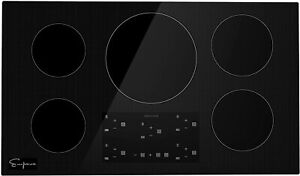 Empava 36 Inch Electric Stove Induction Cooktop with 5 Power Boost Burners