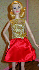 """Barbie """"Home For The Holidays"""" (2001) Doll Dress ONLY Fits: Fashion Royalty"""