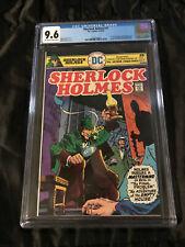 1975 DC Comics Sherlock Holmes #1 CGC 9.6 NEAR MINT Rare in High Grade New Case!