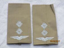 Bundeswehr Shoulder Marks: First Lieutenant,Air Force, White on Khaki