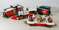 1987 NEW BRIGHT G HOLIDAY EXPRESS 4 Pc TRAIN SET Animated Bears Christmas Cars