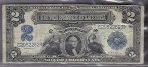 1899 US Silver Certificate $2 Note Fr 252 Vernon McClung Two Dollar