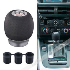 5.6CM Gear Shift Knob For STI SUBARU IMPREZA Black PU Leather Aluminum 5 Speed