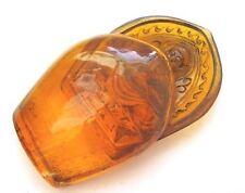 Vintag Japan amber netsuke/okimono -Doubleside Buddha Shrine Box for Meditation