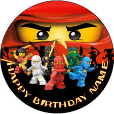 NINJAGO PERSONALISED EDIBLE CAKE TOPPER REAL ICING IMAGE 19 CMS ROUND