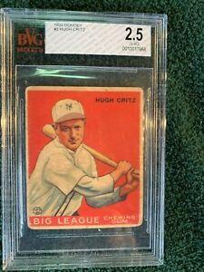 1933 Goudey Hugh Critz  # 3Graded G-VG BvG 2.5