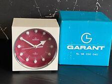 Fine Vintage Design Wecker Garant org. 70er Tischuhr Mid Century Jaoan Uhr OVP