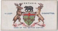Ontario Dominion Canada British  Coat Arms 100+ Y/O Trade Ad Card