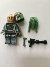 STAR WARS LEGO MINIFIGURE BOBA FETT BOUNTY HUNTER+BLASTER+CAPE 9496 DESERT SKIFF