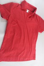 NIKE GOLF DriFit XS RED Striped Polo Shirt Short Sleeve Top Stretch Cotton Blend