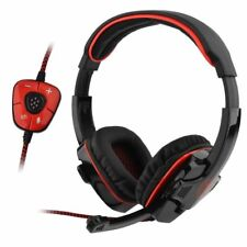 7.1 Surround Sound Bass Sades SA-901 Headband Gaming Headset For PC Laptop Red
