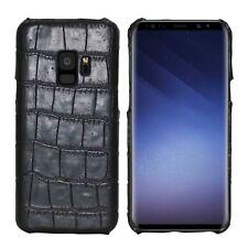 Hart Schale Kroko Crocodile Optik Profil Muster Handycover für Samsung Galaxy S9