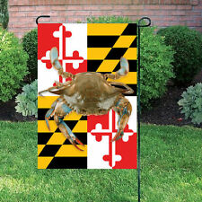 Brand New Maryland State Flag Banner Blue Crab House Garden 25x40''