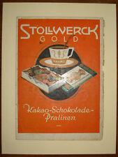 stampa antica old print pubblicità cacao cioccolata stollwerck gold 1930 c